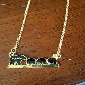 New mama bear 3 child necklace